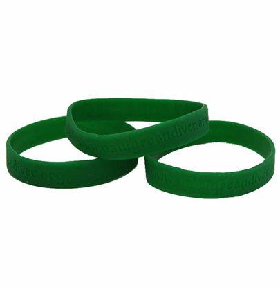 NAUI Green Diver Wristband